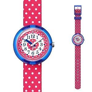 Flik Flak Mädchen Analog Quarz Uhr mit Stoff Armband FPNP012