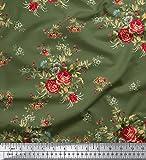 Soimoi Dekorative Blumendruck-65 GSM 44 Zoll breit