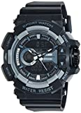 #4: Skmei Analog-Digital Multi-Colour Dial Unisex Watch - 1117BBGREY