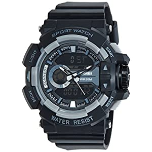 Skmei Analog-Digital Multi-Colour Dial Unisex Watch - 1117BBGREY