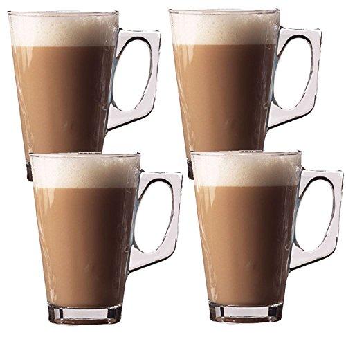 240 ML-TRANSPaRENT-LOT DE 4 VERRES À CAFÉ LATTE/CAPPUCCINO TEA-COFFRET DE 2 MUGS/TASSES