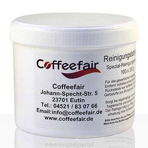 Coffeefair Reinigungs-Tabletten für Kaffeeautomaten 100 x 3,6g - Reinigung Tabletten