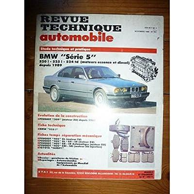 RTA0521 - REVUE TECHNIQUE AUTOMOBILE BMW SERIE 5 520i - 525i - 524td Essence et Diesel depuis 1989