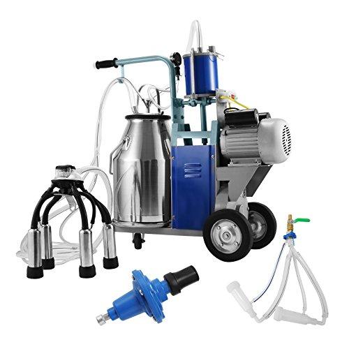 Buoqua Elektrisch Melkmaschine ziegen für Kühe und Ziegen 25L milking machine 1440RPM 0.55KW Melken Kühe 304 Edelstahl Melkmaschine 10-12 Kühe pro Stunde - Der Kuh Melken