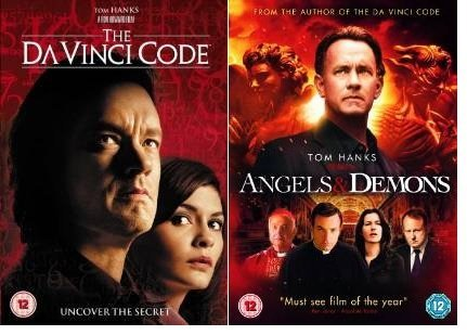Dan Brown's Da Vinci Code / Angels and Demons Double Pack (2 Disc) DVD Collection Extras by Tom Hanks - Da Vinci Collection