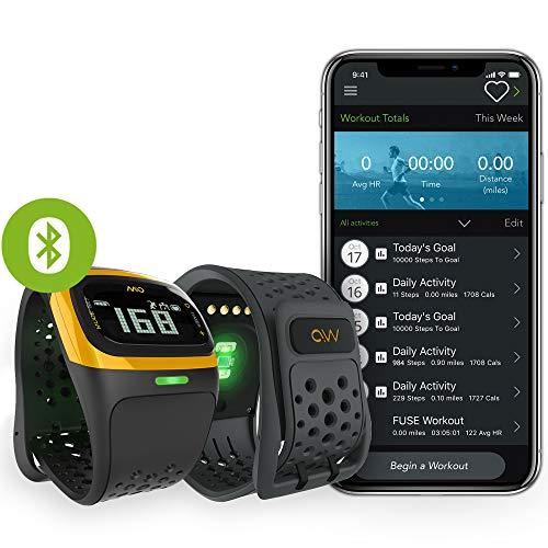 MIO Alpha LED Activity Tracker mit Herzfrequenzmessung (Ohne Brustgurt, Einstellbare Herzfrequenzzonen, EKG-genaues Fitnessarmband App, wasserdicht, 14,7 - 19cm Handgelenkumfang) gelb -