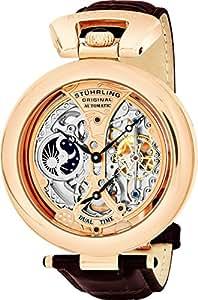 Stuhrling Original 127A.334553 Herren-Armbanduhr Analog Automatik Leder