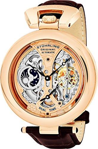 Stuhrling Original 127A.334553 - Montre Automatique - Affichage Analogique - Bracelet Cuir Marron et Cadran Multicolore - Hommes