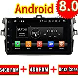ROADYAKO Octa Core Central Media für Toyota Corolla 2006 2007 2008 2009 2010 2011 Android 8.0 Autoradio Stereo mit GPS-Navigation 3G WiFi Spiegelverbindung RDS FM AM Bluetoot