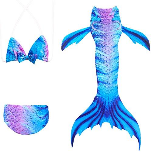 Sexy Erwachsene Für Kostüm Meerjungfrau - Das beste Mädchen Meerjungfrauen Bikini Kostüm Meerjungfrau Schwimmanzug Badeanzüge Tankini (150, 18)