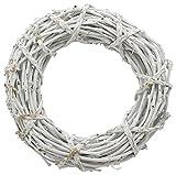 Exner Dekokranz Türkranz Weidenkranz Rattan Weide grau weiß weiß 35x9cm