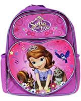 Small Backpack - Disney Sofia The First with Book Purple New 641498