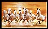 #4: PAF Vastu Seven Lucky Running Horses Framed Wall Art Paintings (Wood,35cmx 2Cmx 50Cm)