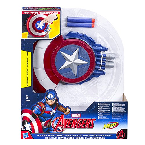 Hasbro Avengers B9943EU4 - Captain America Blaster Reveal Schild, Verkleidung (Science-fiction Kostüme)