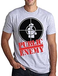 Public Enemy Black And Red Logo Graphic Design Men's T-Shirt Homme