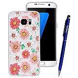 Yokata Coque Samsung Galaxy S7 Edge Étui Transparente Motif Simple Etui Samsung S7 Edge Silicone Souple Ultra Fine Mince Soft Gel Case Bumper en Slim Cover Anti Choc Housse de Protection - Marguerite