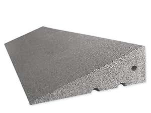 RO-FLEX Bordsteinkanten-Rampe 170 mm aus Gummifasern (grau) - Bordsteinrampe - Treppenrampe - Gummirampe
