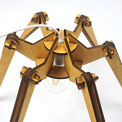 Hölzerne Schreibtischlampe LED Augenschutzlampe Leseschlafzimmer Leselampe verdunkelnde Nachttischlampe Quad Uv-led