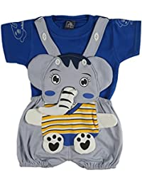LK Vyapaar Pvt Ltd Elephant Face Romper Babasuit Dungaree for boy Girl Partywear