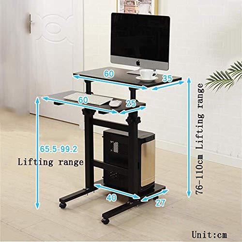 Afayu Afanyu Mobile Stehpult Computer Workstation Mobiler Tisch Laptop Schreibtisch Ständer Notebook Warenkorb Tablett