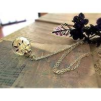 Catena in argento sterling Mini collana di tarassaco con confezione regalo - ciondolo fiore gioielli fatti a mano per le donne gioielli da cocktail