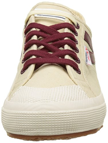 Superga 2750-Cotu Panatta, Baskets Basses Mixte Adulte Beige (Écru-Dk Bordeaux)