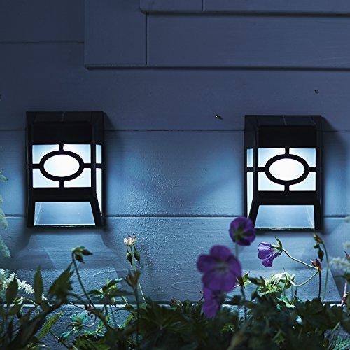 Lights4fun Lot DE 2 Appliques Solaires Traditionnelles à LED Blanches pour Jardin