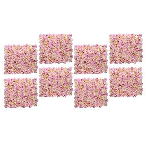 FLAMEER 8pcs Mur Panneau Fleur Artificial Fourniture Maison Suspendu Mariage Fond Photographique