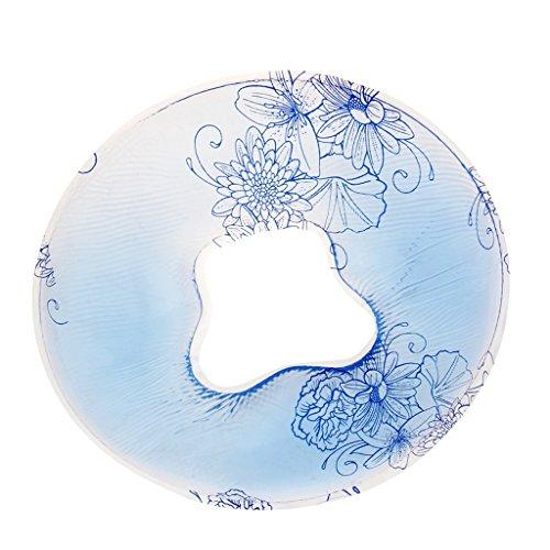 Massage-kissen-pad (D DOLITY 1 x Silikon Gelkissen Salon Spa Massage Kopfstützen Kissen Pad - Blau)