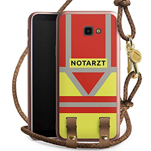DeinDesign Carry Case kompatibel mit Samsung Galaxy J4 Plus (2018) Handykette rosé Gold Handyhülle zum Umhängen Notarzt Rettungssanitäter Rettungsdienst