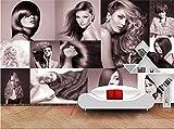 Lyqyzw Carta Da Parati Personalizzata Carta Da Parati Moderna Moda Moderna Per Parrucchieri Foto Murale Decorazione Per Barbieri Carta Da Parati Decorativa 300X210Cm