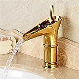 TOYM- Europäische Badezimmer-Marmor-Arbeitsplatte-Hahn-antiker Hahn-reiner Kupfer-Weinlese-heißer und kalter Hahn
