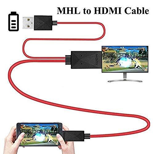 Greetuny Adattatori 6.5 Feet MHL Cavo di conversione adattatore Micro USB a HDMI 1080P HDTV per dispositivi Android Samsung Galaxy S3 S4 S5 Grado 3 Nota 2 Nota 8 Nota Pro Galaxy Tab 3.11 Pin
