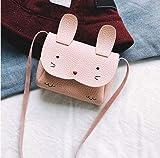 REFURBISHHOUSE Mini Schultertasche Kinder Messenger Bag Bebe Maedchen Handtasche Schultertasche Cute Rabbit Crossbody (rosa)