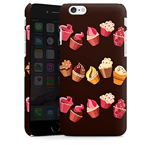 Apple iPhone 6s Plus Hülle Case Handyhülle Chocolate Muffins Cupcake Kuchen Premium Case matt