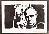 Póster El Padrino (The Godfather Don Vito Corleone) Grafiti Hecho A Mano - Handmade Street Art - Artwork