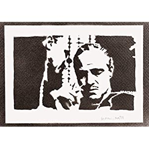 Der Pate Poster The Godfather Don Vito Corleone Plakat Handmade Graffiti Street Art – Artwork