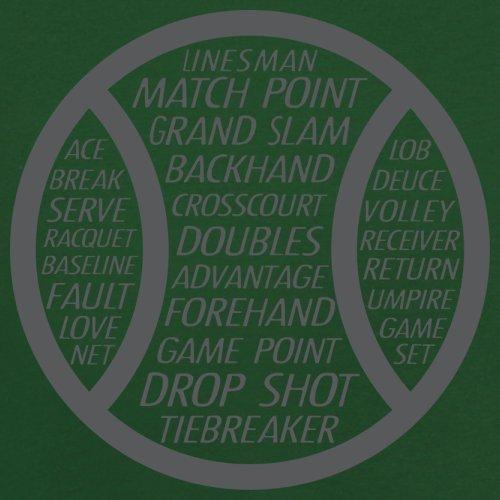 Tennis Word Ball - Herren T-Shirt - 13 Farben Flaschengrün