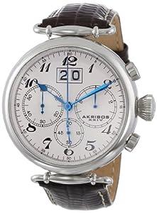 Akribos XXIV AK628SS - Reloj para hombres, correa de cuero de Akribos XXIV