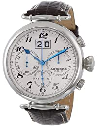 Akribos XXIV AK628SS - Reloj para hombres, correa de cuero
