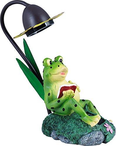insatech Solar LED Leuchte Frosch GILBERT Frosch mit Blume Solarleuchte