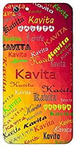 Kavita (Poetry) Name & Sign Printed All over customize & Personalized!! Protective back cover for your Smart Phone : HTC Desire 626