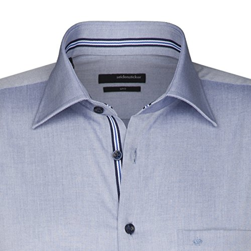 Seidensticker -  Camicia classiche  - Basic - Classico  - Uomo Blau