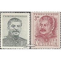 Checoslovaquia 603-604 (completa.edición.) 1949 Stalin (sellos para los coleccionistas)