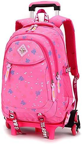 JL-Q Écolières pour Le Collège de Jeunes filles'sac de de de Trolley pour Les  s à l'école secondaire à défileHommes t Amovible Sac à Dos pour   6-12 Ans,Pink   Authentique  1d3a46