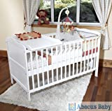 White Cot Bed with Pocket Sprung Mattress