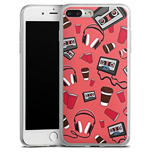 Apple iPhone 8 Plus Slim Case Silikon Hülle Schutzhülle 13 Reasons Serie Kassette Silikon Slim Case transparent