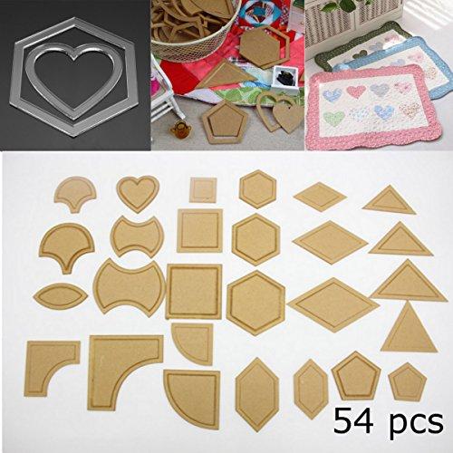 emischte Quilt Schablonen Acryl DIY Werkzeuge für Patchwork Patchwork Quilt-Vorlage Lineal Nähwerkzeugen ()