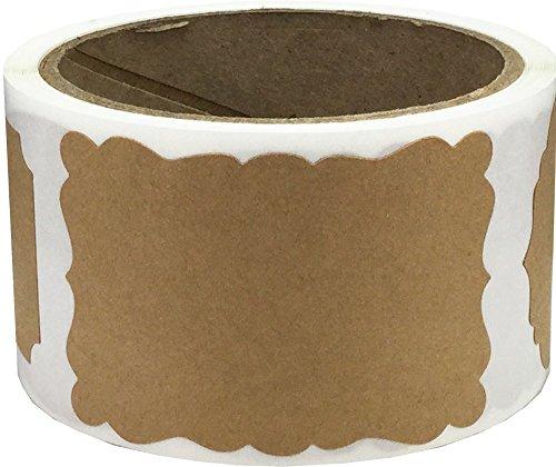 Marrón Kraft Navidad Regalo Pegatinas, 51 x 76 mm 2 x 3 Pulgadas, 100 Etiquetas en un Rollo