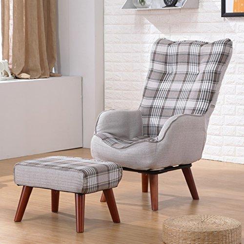 LI JING SHOP - 360 ° Rotate Pliable Pliant Loisir Canapé chaise Femmes enceintes Allaitement chaise fauteuil individuel Avec ottoman ( Couleur : Gris foncé )